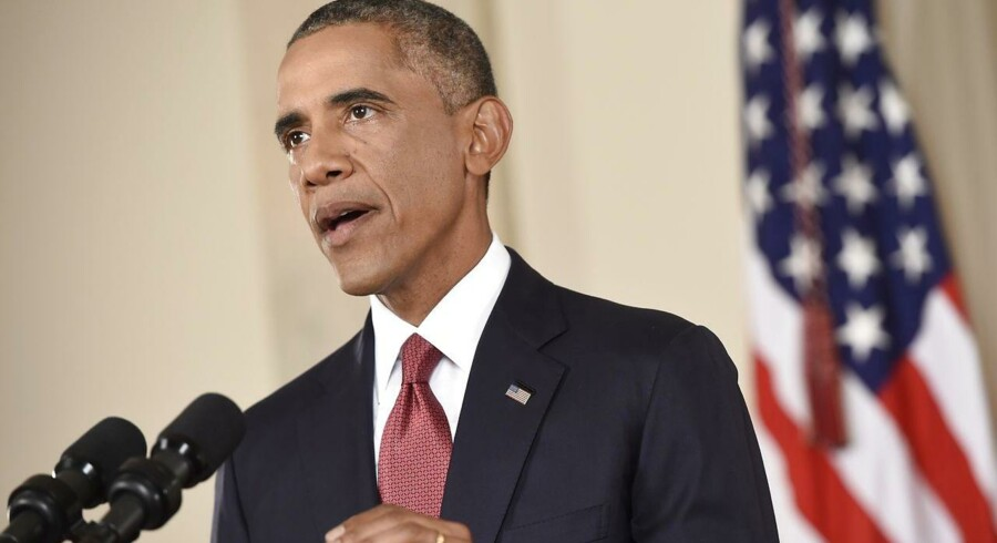 Præsident Barack Obama under nattens tale om Islamisk Stat.