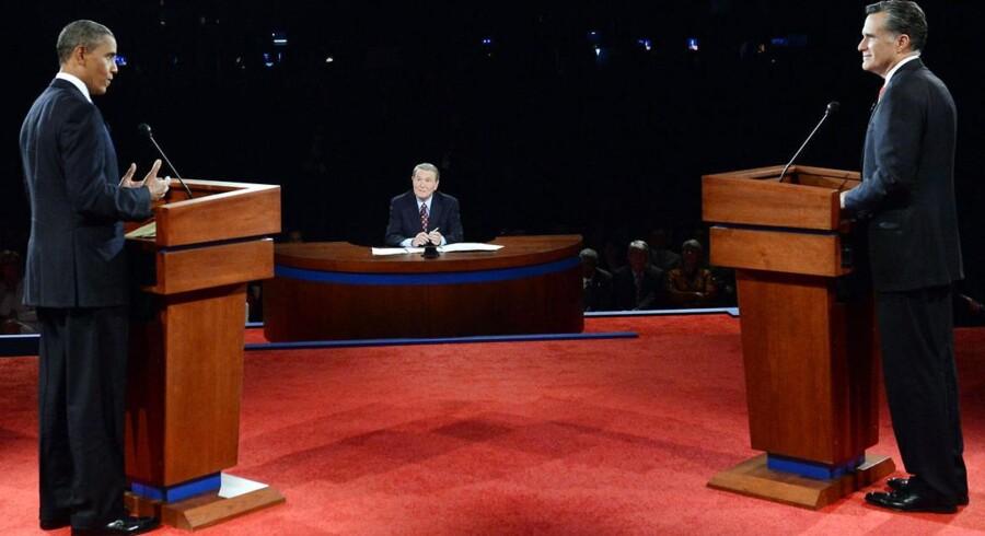 Natten til onsdag dansk tid står de to præsidentkandidater igen over for hinanden i en TV-transmitteret debat: Demokraten Barack Obama og den republikanske udfordrer Mitt Romney.