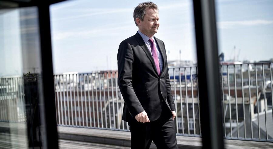 Tidligere direktør for Finanstilsynet Ulrik Nødgaard forlader posten for at blive direktør hos Finansrådet. Fotograferet i Finanstilsynet mandag den 20. april 2015.