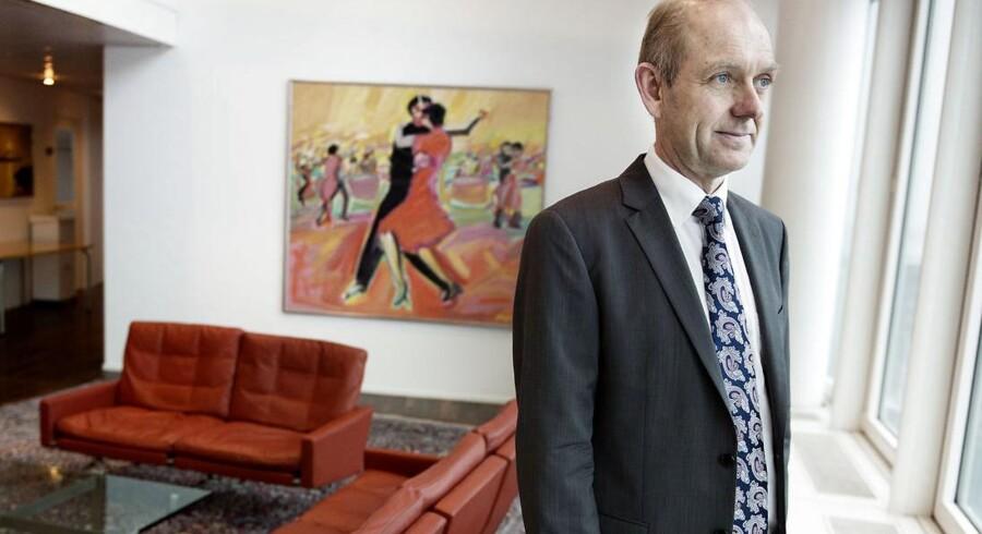 Søren Boe Mortensen, administrerende direktør i Alm.Brand, forventer at banken vil give underskud to år endnu.
