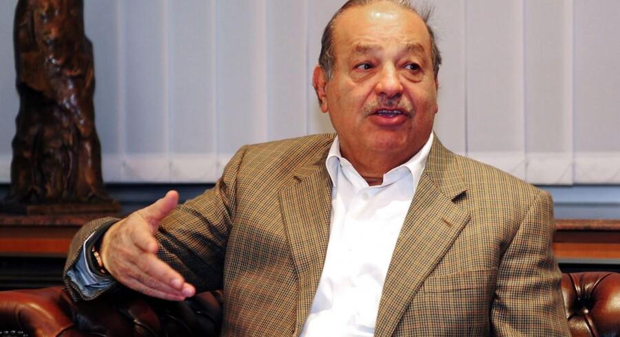 Mexikanske Carlos Slim har en tegnebog, der godt kan holde til et milliardtab.