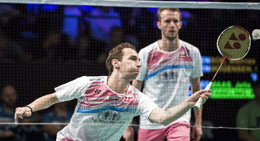 ARKIVFOTO. Mathias Boe (tv) og Carsten Mogensen er i finalen ved Swiss Open.