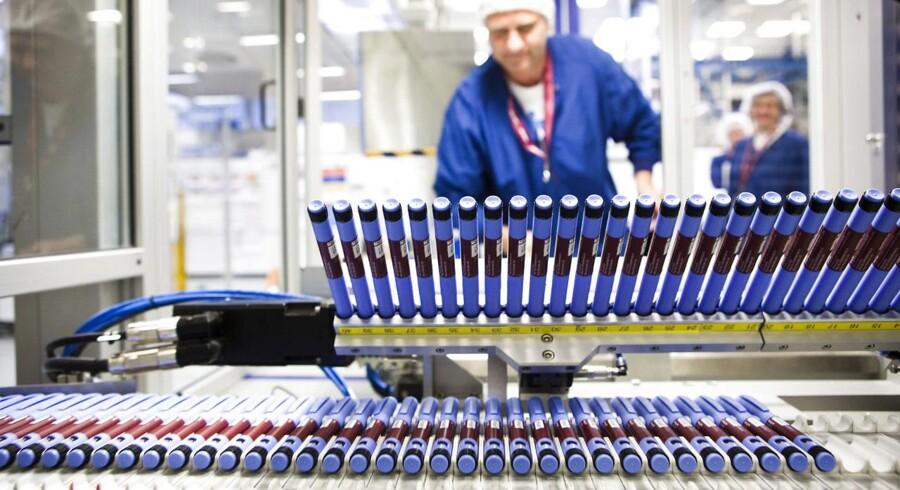 Novo Nordisks fabrik i Kalundborg. Novo Nordisks lægemiddel mod type 2-diabetes, Victoza.