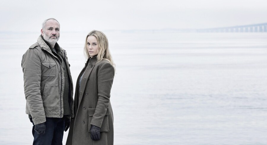 "Sofia Helin og Kim Bodnia spiller Saga og Martin i ""Broen II"". Foto: Carolina Romare"
