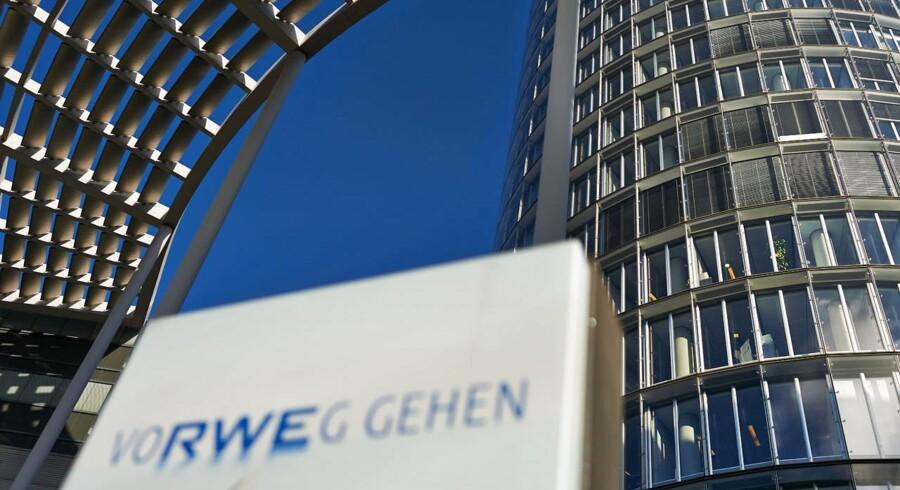 Den tyske energikæmpe RWEs hovedkvarter i Essen, Tyskland.