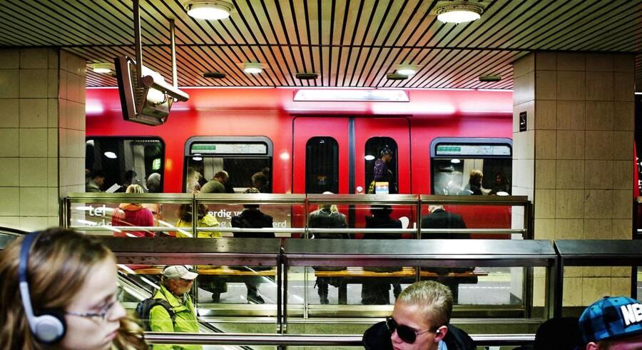 Et S-tog på Nørreport station.