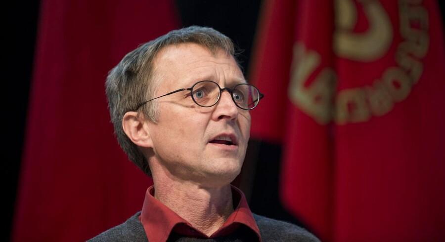 Formand for Danmarks Lærerforening Anders Bondo Christensen holder tale på lærernes stormøde for tillidsfolk i Odense 5.marts 2013. Foto: Claus Fisker