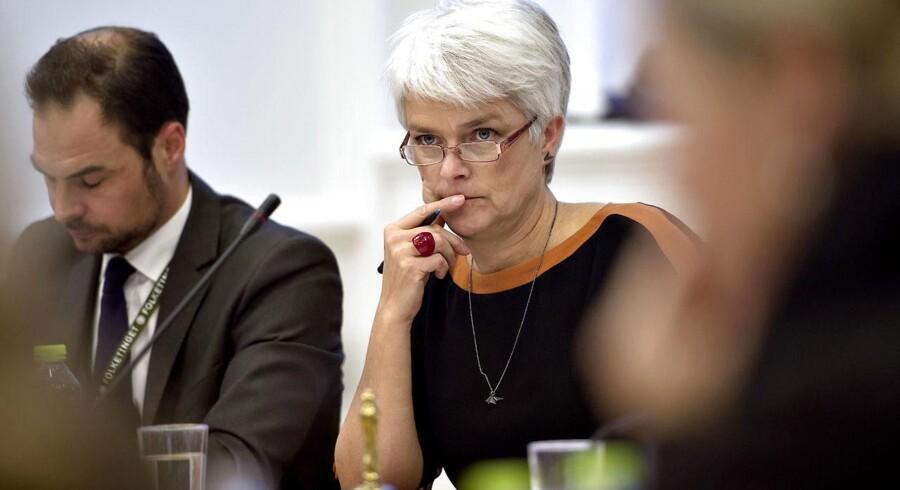 Socialminister og formand for SF, Annette Vilhelmsen, da hun var i samråd om Zornig-sagen.