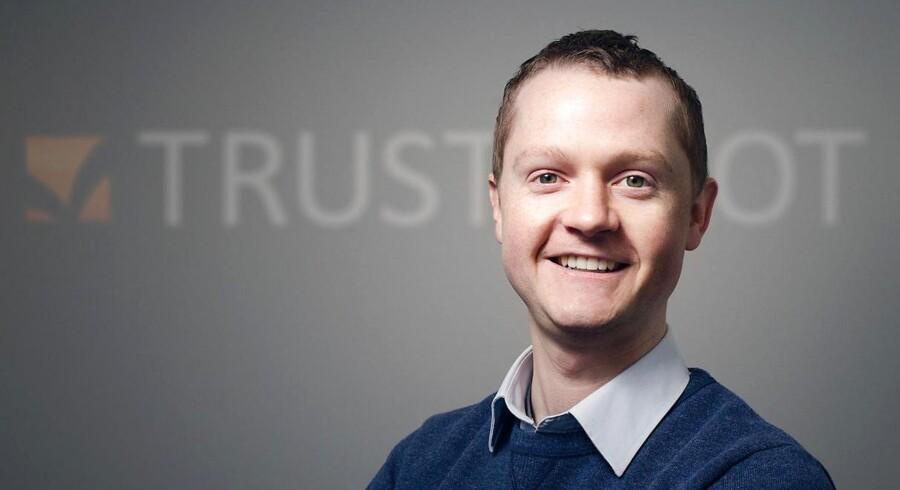 Trustpilot får ny bestyrelsesformand. Her er det Peter Holten Mühlmann, direktør i Trustpilot, som oprettede selskabet i 2007. Nu vil Trustpilot børsnoteres.
