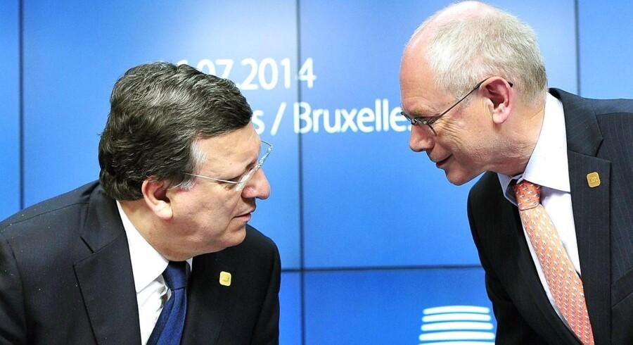 José Manuel Barroso og Herman Van Rompuy.