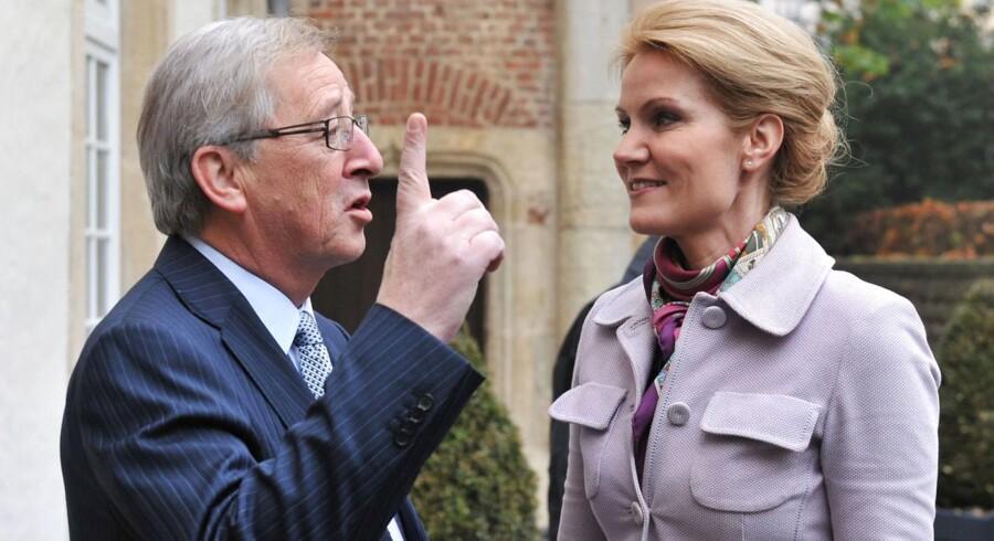 Statsminister Helle Thorning-Schmidt (S) her sammen med Jean-Claude Juncker.