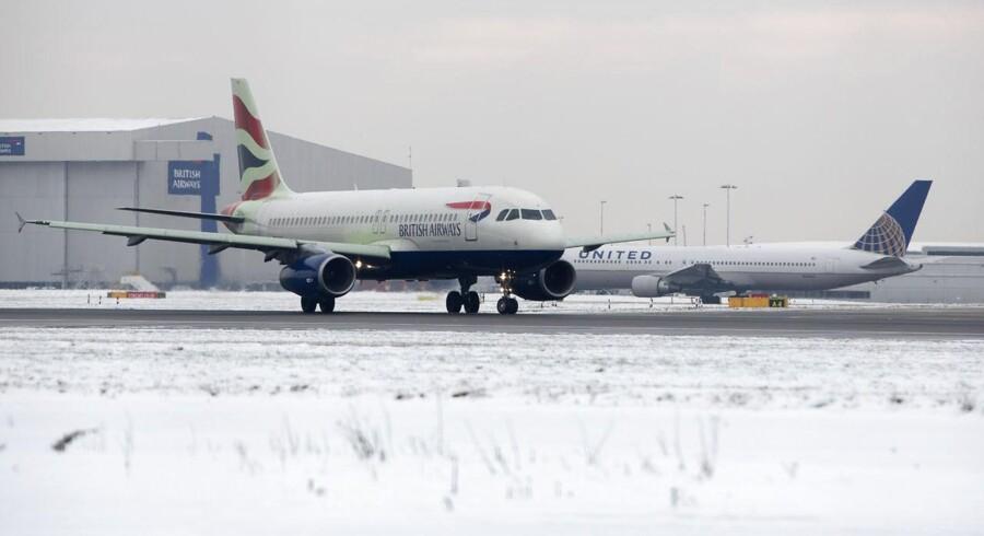 Vintervejr presser flyafgange