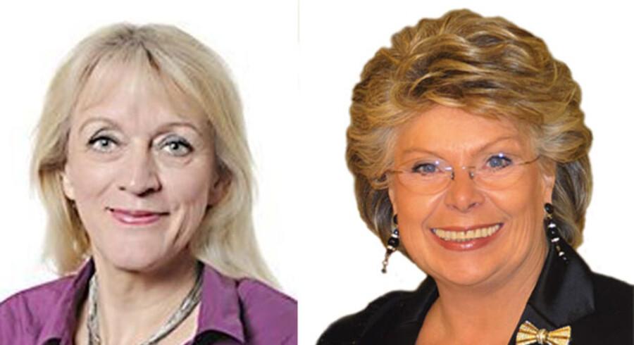Britta Thomsen, MEP (S) og Viviane Reding, EUs justitskommissær