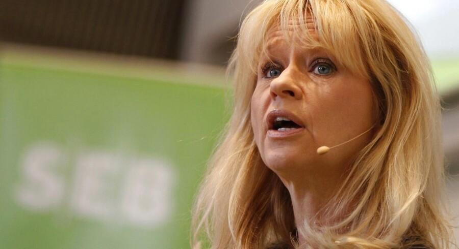 Annika Falkengren (bill.) må være en af de få bankdirektører internationalt, der ikke er skiftet ud, siden finanskrisen ramte i 2007/08.