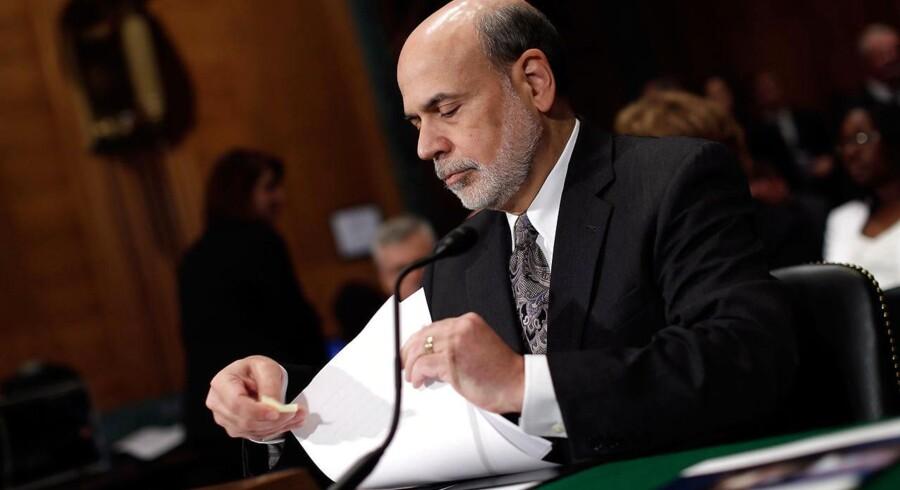 Federal Reserves formand Ben Bernanke bliver ved med at trykke penge og sende dem ud på finansmarkederne.