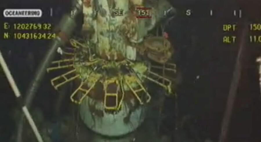 Det er midlertidigt lykkes BP at stoppe olieudslippet i Den Mexikanske Golf.