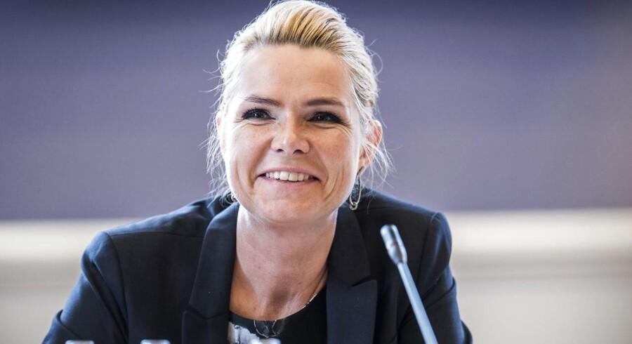 Integrationsminister Inger AStøjberg skal forberede sig på tredje samråd i sagen om barnebrudene. Billedet er fra et tidligere samråd. (Foto: Ida Marie Odgaard/Scanpix 2017)