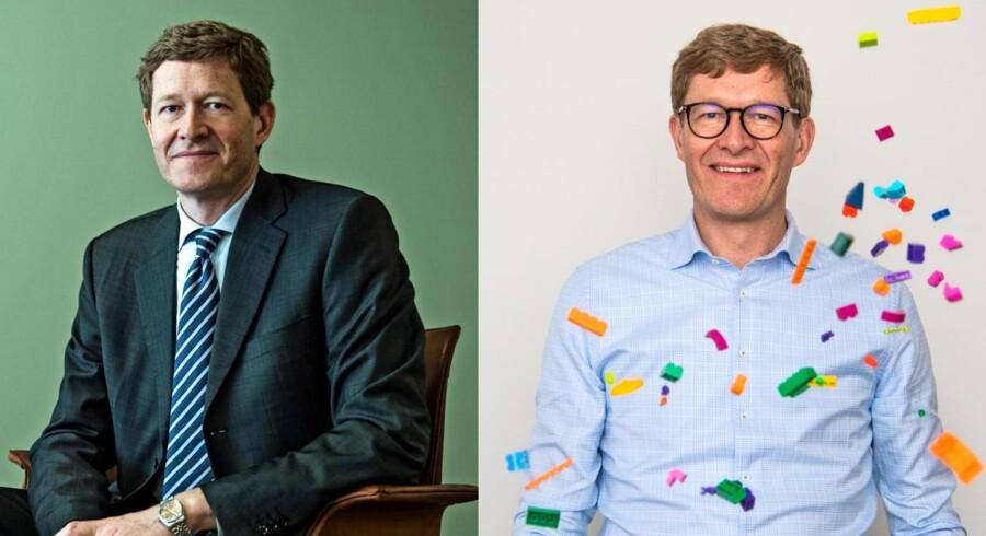 I Niels B. Christiansens ni år som adm. direktør i Danfoss, blev han ikke én gang fotograferet uden slips af Berlingskes fotografer. Det ændrede sige, da han skiftede til Lego, hvor det endnu ikke er lykkedes at fange ham med et slips. Foto: tv.: Christian Liliendahl, th.: Søren Bidstrup
