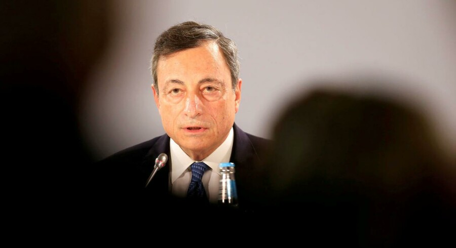 FILE PHOTO: European Central Bank President Mario Draghi.  REUTERS/Ints Kalnins/File Photo