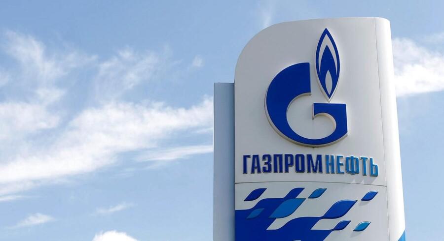 Arkivfoto: Gazprom logo.