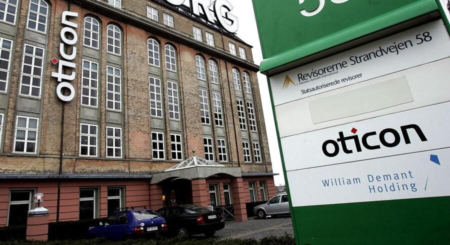 Oticon, William Demant Holding, Strandvejen 58 i Hellerup.