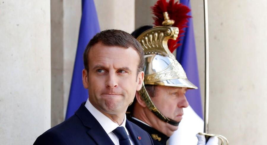 Franskmændene foretrak Emmanuel Macrons EU-venlige kurs. Foto: Christian Hartmann