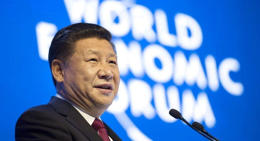 Arkivfoto. Det var med klar adresse til den kommende amerikanske præsident, Donald Trump, at Kinas præsident, Xi Jinping, tirsdag holdt tale ved World Economic Forum i schweiziske Davos.