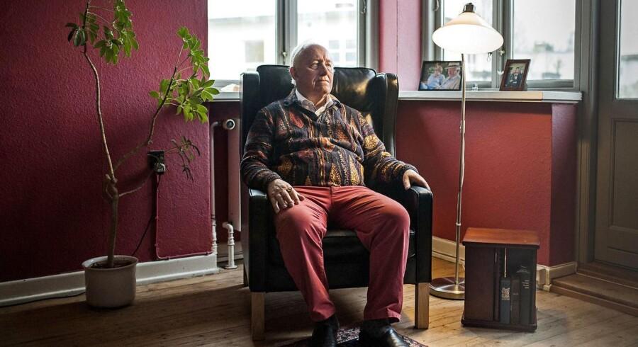 Professor i almendannelse Harry Haue fotograferet tirsdag den 31. januar 2017 i sit hjem i Odense.