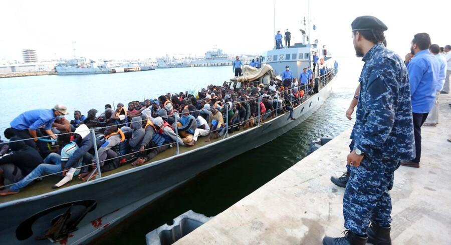 Arkivfoto: Libyen er det land, som flest migranter - primært fra afrikanske lande - rejser af sted fra på deres videre færd ind i Europa.