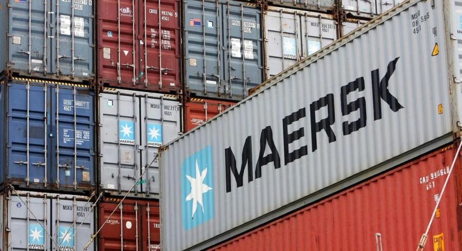 (ARKIV) Mærsk containere i Bremerhaven den 30. august 2010.