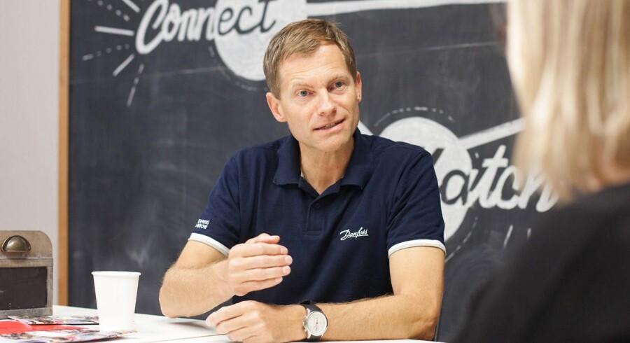 Adm. direktør i Danfoss, Kim Fausing, har været direktør i industrikæmpen i syv måneder, og han er i dag til den store eksamen, da han leverer sit første årsregnskab.