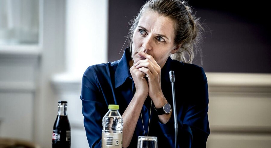 (ARKIV) Sundhedsminister Ellen Trane Nørby (V) i samråd om liberalisering af det danske lægemarked d. 14. september 2017. (Foto: Mads Claus Rasmussen/Scanpix 2018)