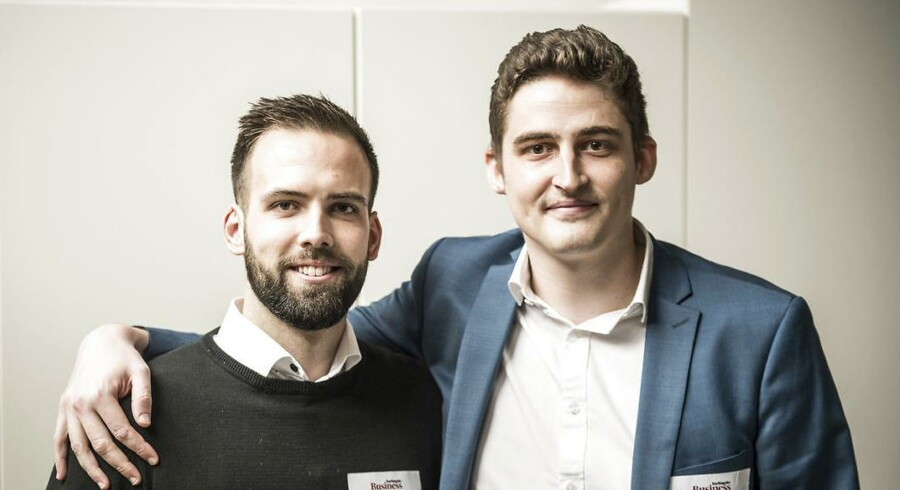 Nicolas Kirk Jørgensen (tv.) og Alexander Kragh er begge medstiftere af rekrutteringsplatformen Statum.