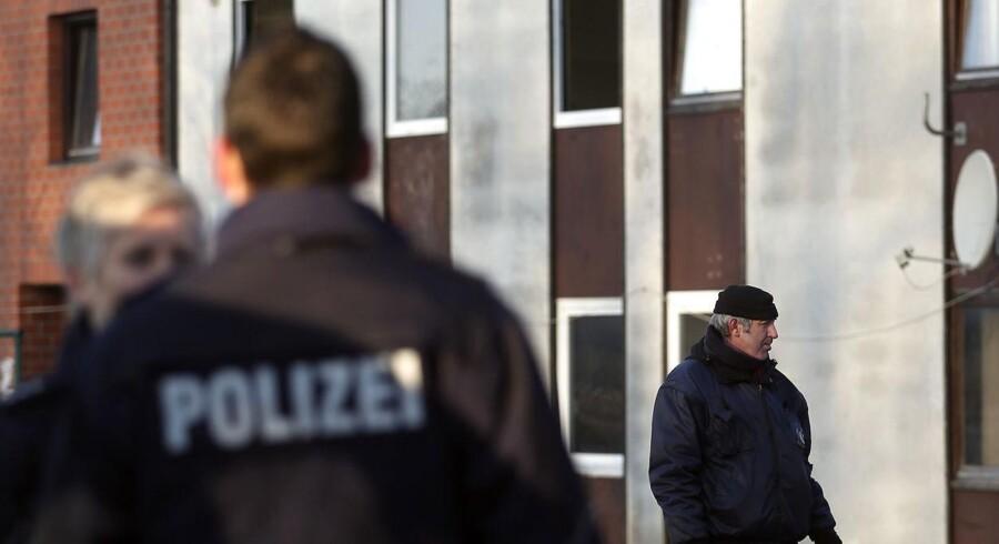 Arkivfoto. Tysk politi er tidligt onsdag morgen i gang med razziaer flere steder i delstaten Hessen.