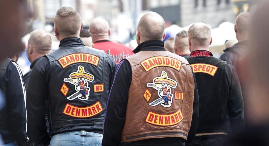 Arkivfoto: I april 2016, hvor Justitsministeriet lavede sin årlige opgørelse, var der registreret 1.400 personer med tilknytning til rocker-/bandemiljøerne. Det er 500 færre end for fire år siden og det lavest opgjorte tal siden januar 2010.