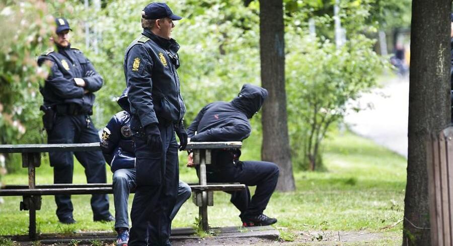 Arkivfoto: Politiaktion mod bandemedlemmer på Nørrebro.