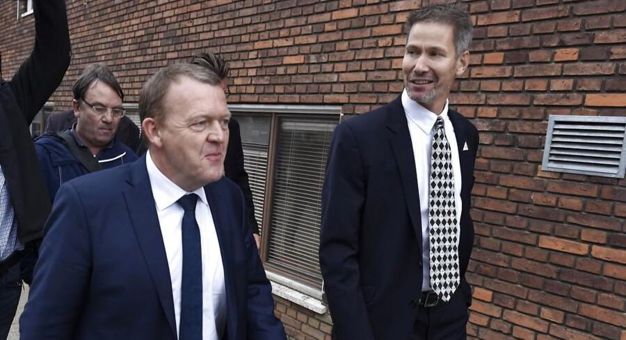 Slagelses borgmester Stén Knuth (t.h.) sammen med statsminister Lars Løkke Rasmussen.
