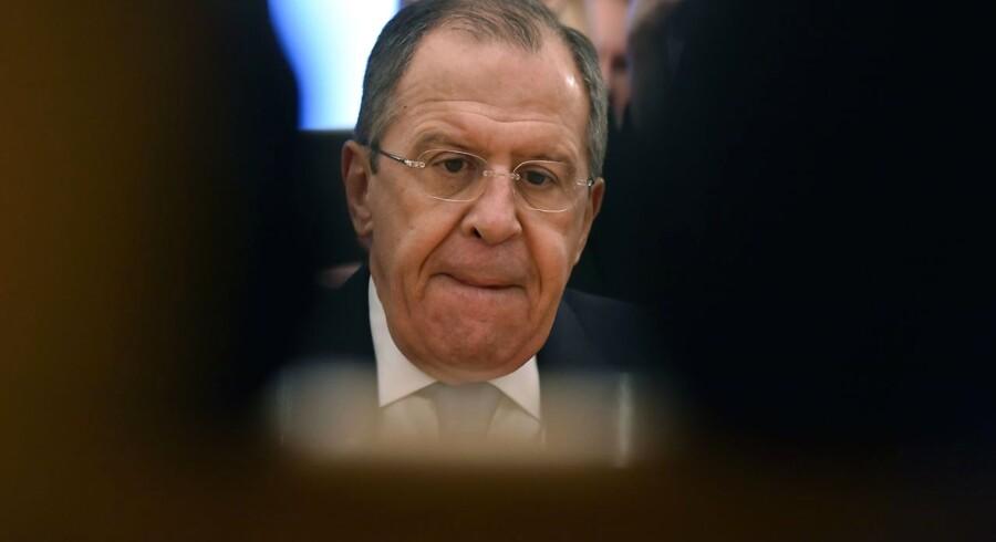 Ruslands udenrigsminister Sergej Lavrov.