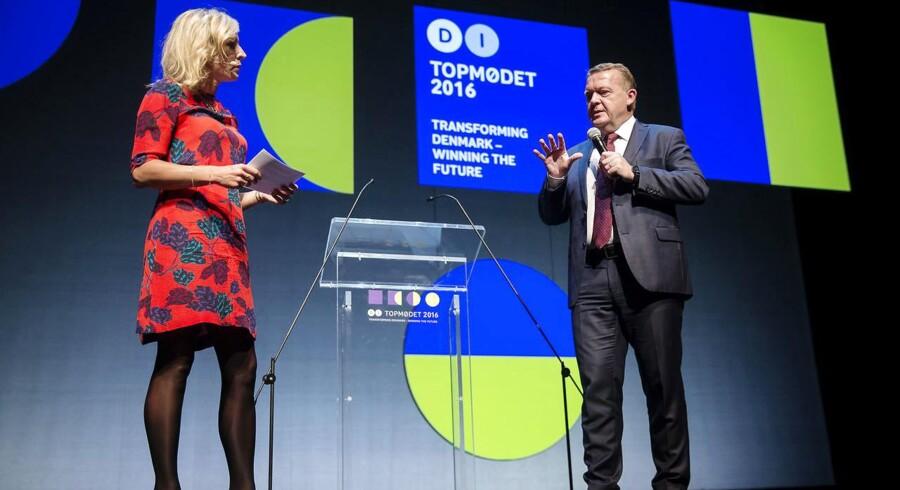 DI konferencen Transformig Denmark blev afholdt i Operaen Lars Løkke leverede sit bud på fremtiden for dansk erhvervsliv, og senere på dagen indtog Mettte Frederiksen scenen. Journalist Cecilie Beck var moderator.