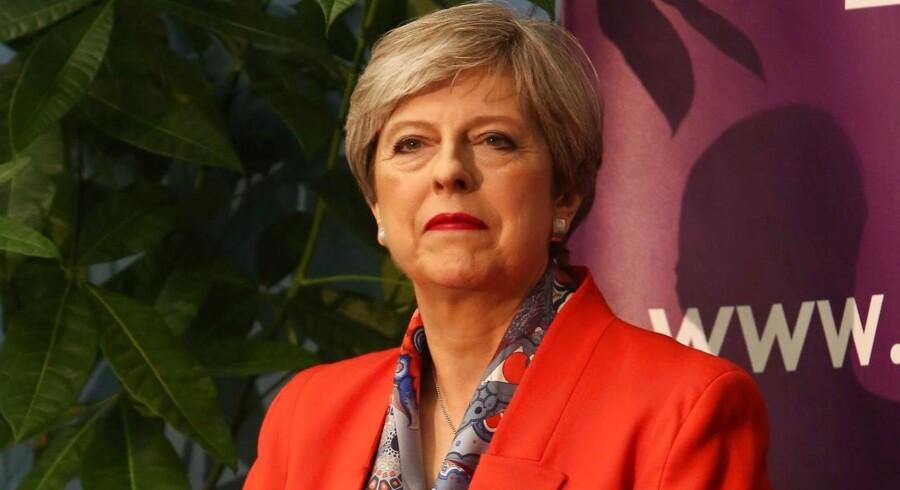 Theresa May på valgnatten.