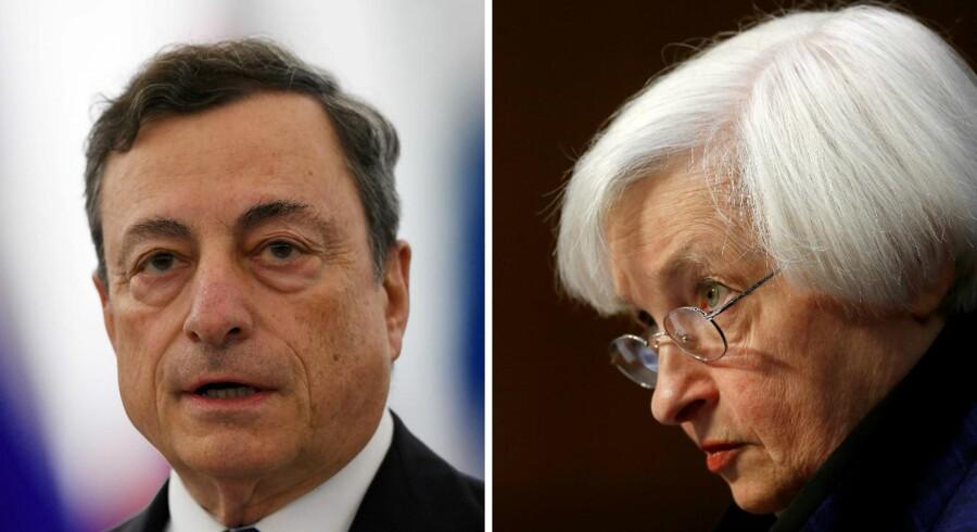 Verdens mest magtfulde centralbanker er i stigende grad kommet under politisk beskydning. Foto: Scanpix