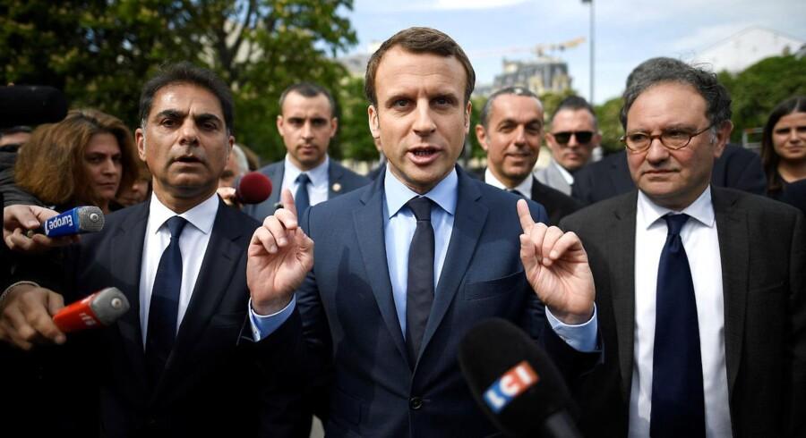 Emmanuel Macron var den direkte årsag til den flyvende aktiedag i går. Euforien var væsentlig mindre i dag, men aktierne steg dog alligevel en smule.