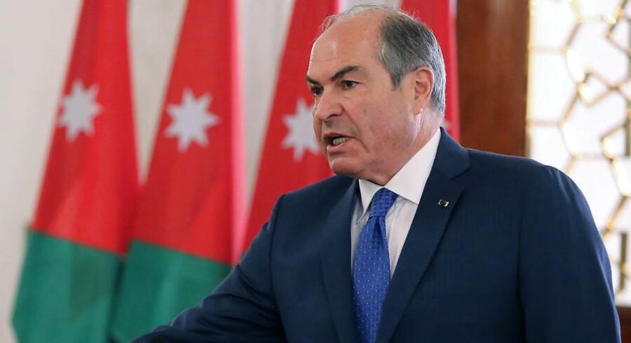 """Arkivfoto af Jordans premierminister, Hani al Mulki, der ifølge Reuters har fortalt Jordans parlament om """"et antal"""" dræbte."""