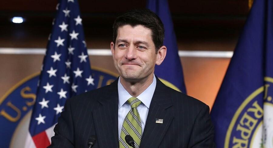 Paul Ryan under sin ugentlige pressebriefing torsdag.