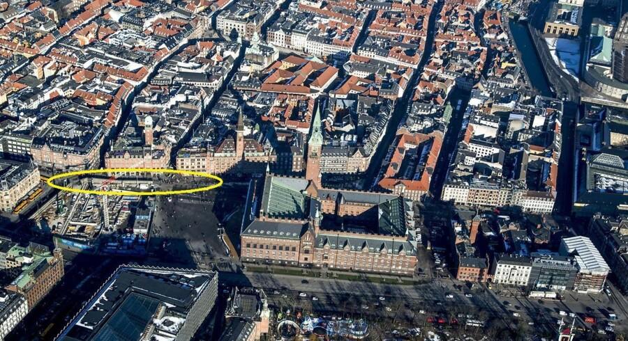 Vester Voldgade har været lukket ved Rådhuspladsen i flere år på grund af metrobyggeri.