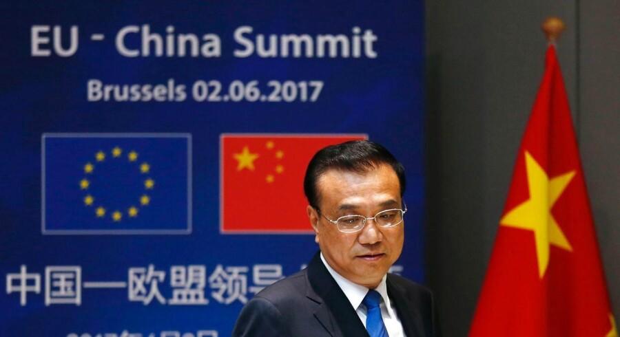 Arkivfoto. Mens de europæiske topledere tager afstand fra den amerikanske præsident, Donald Trump, lægger Kina op til et øget samarbejde med EU.