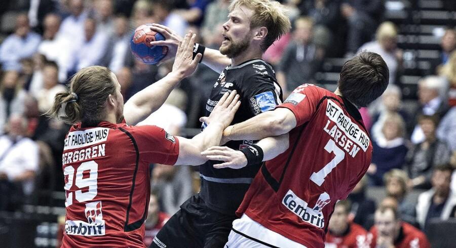 Arkivfoto. Århus Håndbold var foran med ti mål og cruisede sig til sidst til en sejr på 30-26 ude mod HC Midtjylland.