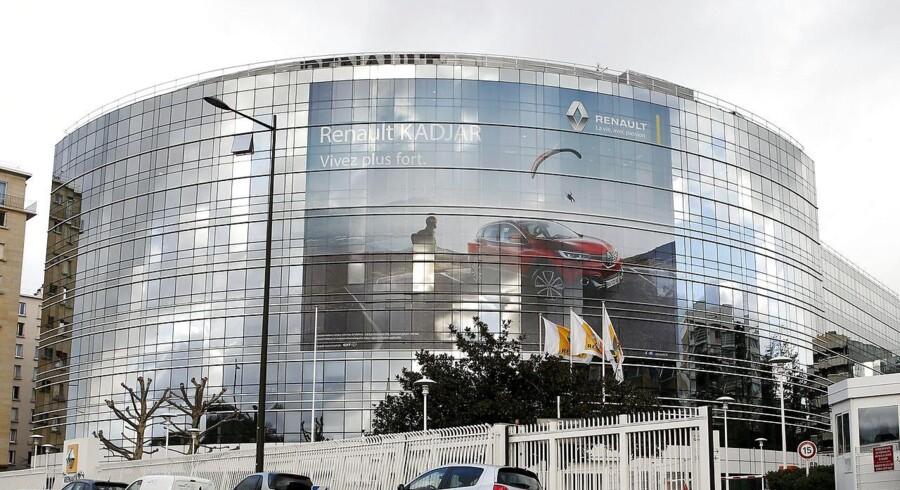 Den franske Renault-koncern er blandt dem, der er ramt af virusangrebet. Foto: Yoan Valat, EPA/Scanpix