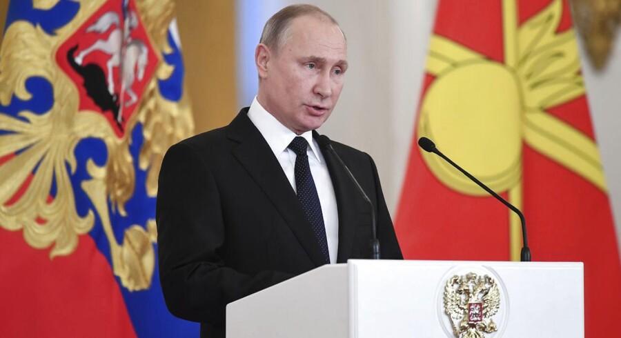 Den nuværende russiske præsident Vladimir Putin.