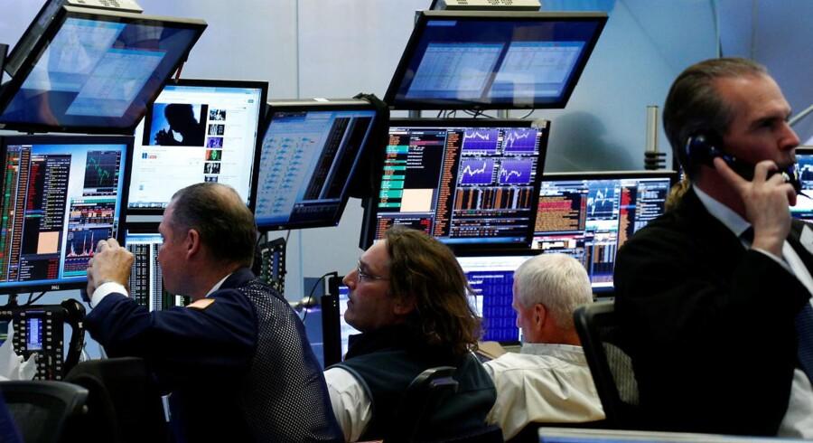 Arkivfoto. Efter en bedre end ventet jobrapport for april steg de amerikanske aktiemarkeder fredag, og hvor flere af de ledende indeks var tæt ved at lukke i rekord.